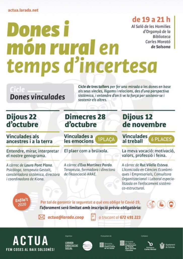 Enfila't 2020- Cicle dones vinculades